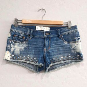 Abercrombie & Fitch Embellished Jean Short sz 2